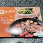 Quorn Peppered Steak Packaging